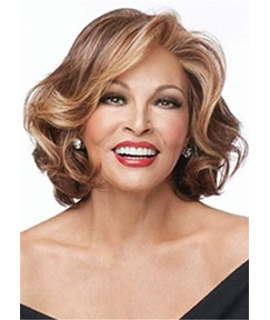 Short Bob Hair Cut Wavy Synthetic Hair Capless Wig