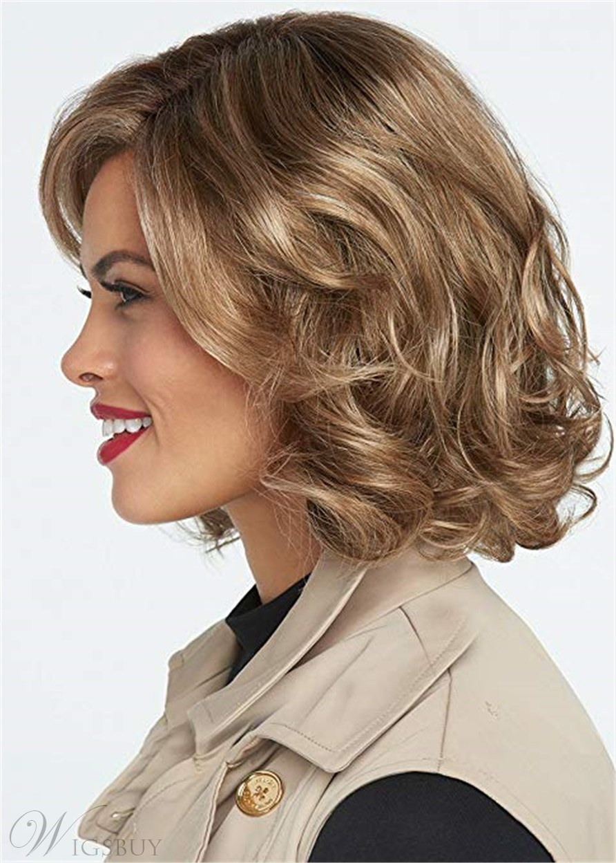 Short Bob Cut Wavy Synthetic Hair Lace Front Wig