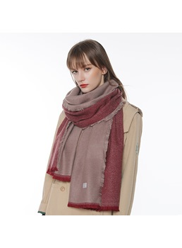 Pure Color Warm Double Side Winter Scarf