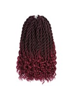 Goddess Locs With Curly Ends Crochet Twist Braids Soft Synthetic Braiding Hair Extension 6pcs