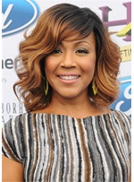 Erica Campbell Hairstyle Synthetic Hair Wavy Women Wig 14 Inches