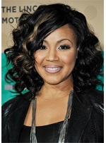 Erica Campbell Hairstyle Synthetic Hair Capless African American Wig 14 Inches