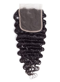 Wigsbuy Remy Human Hair Deep Wave 4*4 Lace Closure
