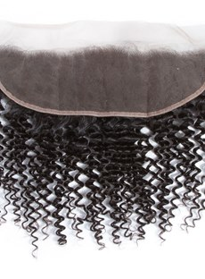 Wigsbuy Remy Kinky Curly 13x4 Lace Frontal Closure 8-18 Inch