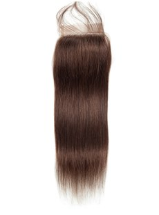 Wigsbuy Straight Hair Closure #2 Dark Brown Human Hair Lace Closure 10-20 Inches