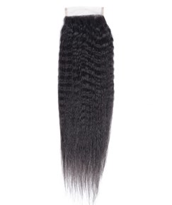 Remy Kinky Straight Closure Brazilian Hair Closure 4x4 Free Part