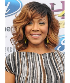 Erica Campbell Hairstyle Synthetic Hair Wavy Lace Front Wig