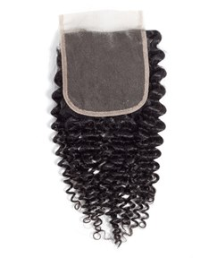 Wigsbuy Kinky Curly Remy Human Hair 4*4 Free Part Closure