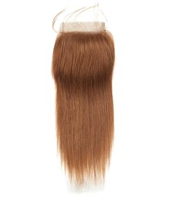 Wigsbuy Gold Blonde Straight Human Hair Swiss Lace Closure 4*4