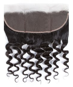 Wigsbuy Human Hair Loose Deep Lace 13X4 Frontal Closure