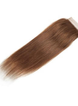 Wigsbuy Gold Blonde Straight Human Hair ClosureSwiss Lace Closure 4*4