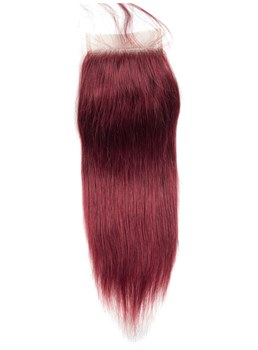 Wigsbuy Human Hair #99j Swiss Lace Closure 4x4 With Baby Hair