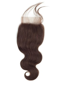 wigsbuy body lace closure pre-colored # 2 parte libera da 10-24 pollici