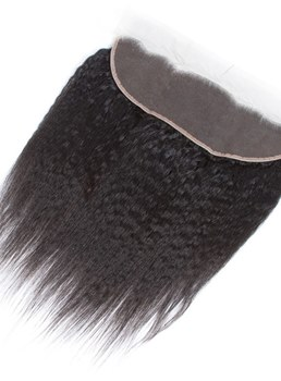 Wigsbuy Vigin Human Hair Brazilian Kinky Straight Lace Frontal 13*4