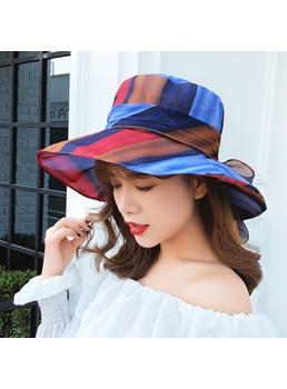 Colorful Color Block Bucket Sun Hat