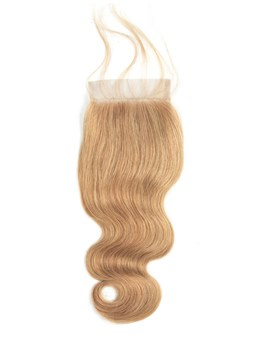 wigsbuy body wave 4 * 4レースクロージャー#27 color