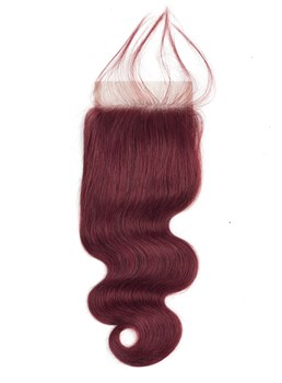 Wigsbuy 99J Free Part Closure Body Wave 10-20'' Human Hair