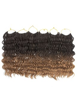 Curly Senegalese Twist Crochet Hair Extension Kanekalon Synthetic Braiding Hair 18 Inches
