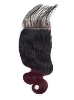 wigsbuy ombre body wave lace closure t1b / burgundy