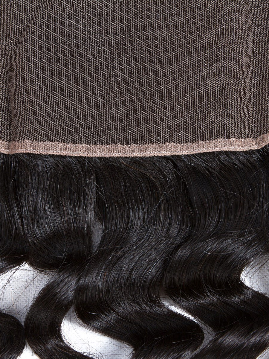 Wigsbuy Remy Lace Frontal Loose Deep Remy Human Hair 13*4 Ear to Ear Frontal