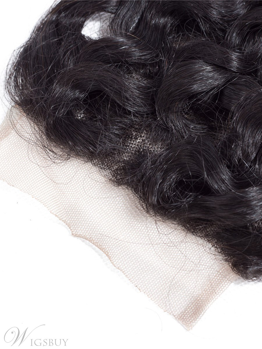Wigsbuy Remy Human Hair Brazilian Deep Wave Closure 4*4 Free Part