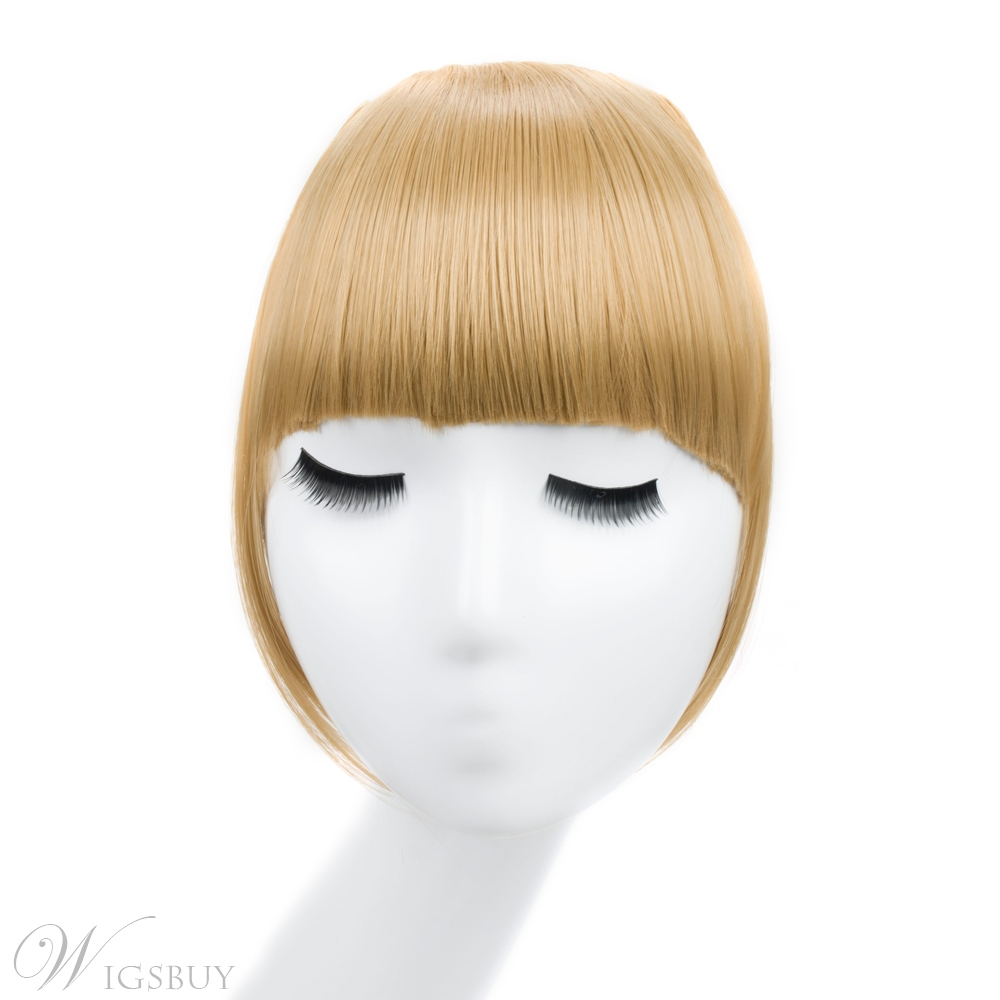 Clip In Hair Bangs Hairpiece Synthetic Blunt Bangs Hair Piece