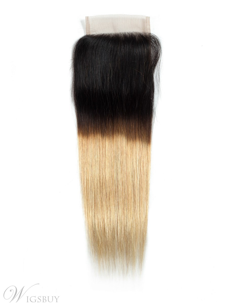 Wigsbuy T1b/27 Blonde Ombre Straight Hair Lace Closure