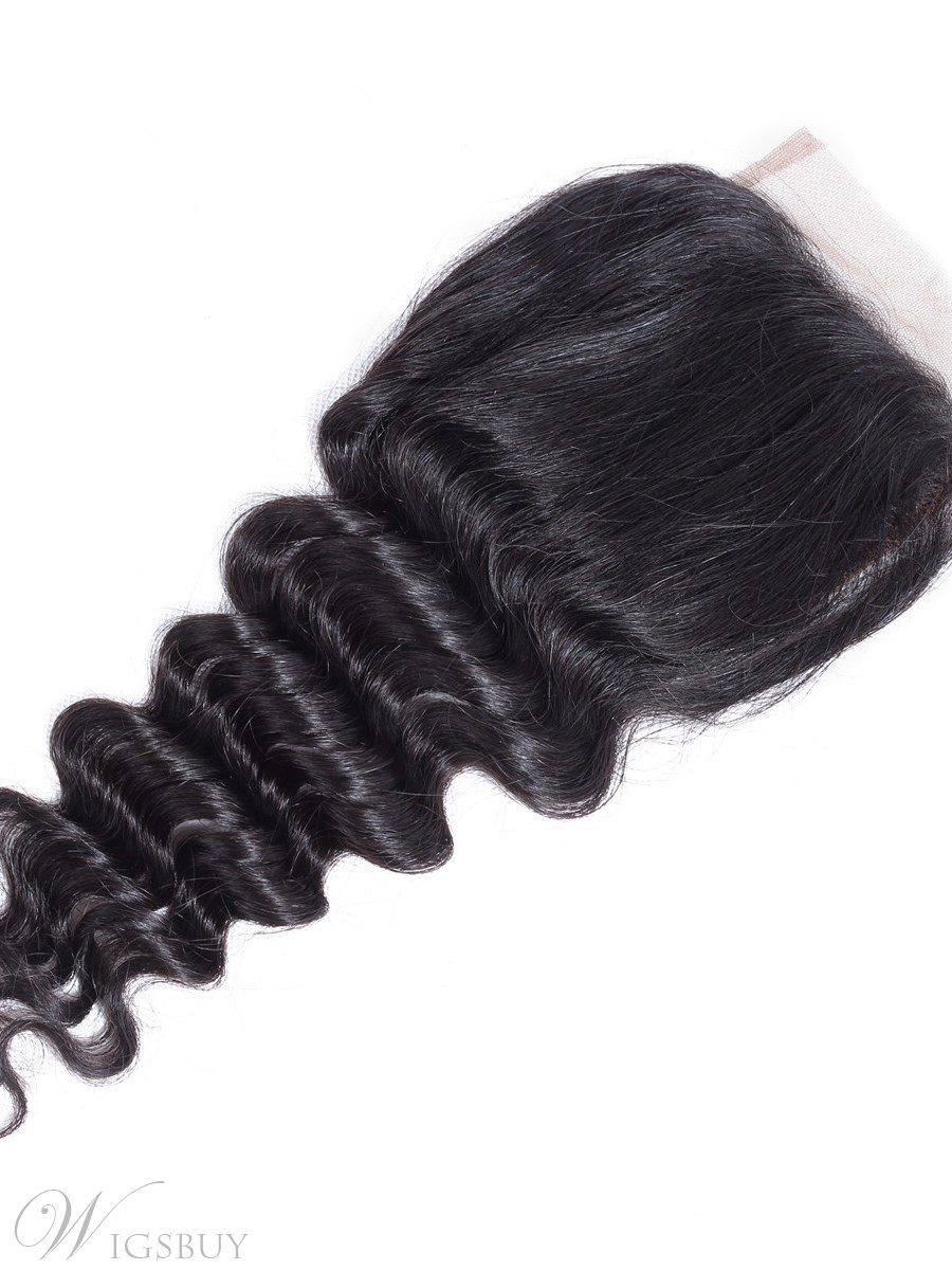 Wigsbuy Remy Lace Closure Loose Deep Remy Human Hair 4*4 Free Part
