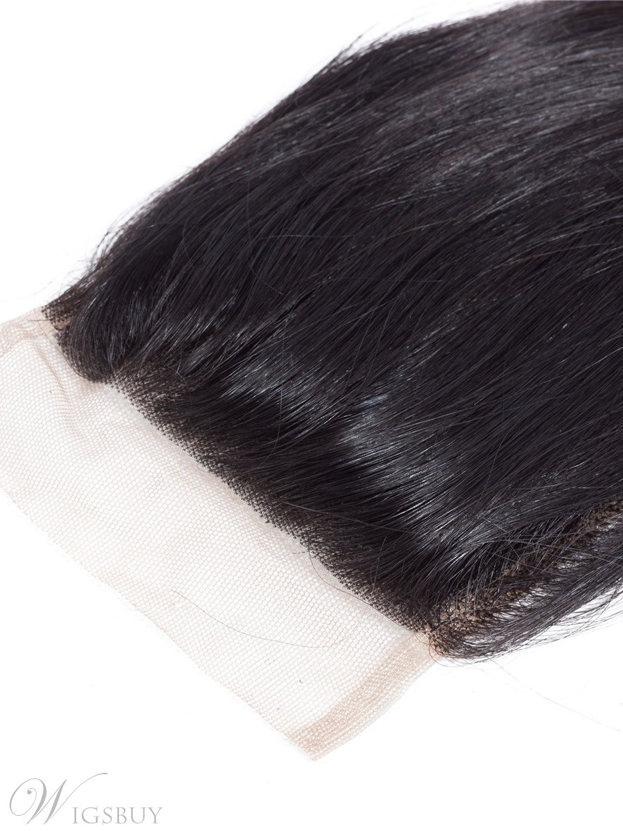 Wigsbuy Brazilian Remy Hair Loose Wave Human Hair Lace Closure 4x4 Free Part