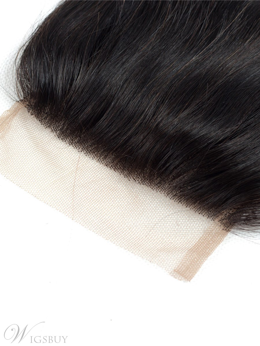 Wigsbuy T1B/Bug Ombre Straight Hair Closure Swiss Lace 4*4 Free Part