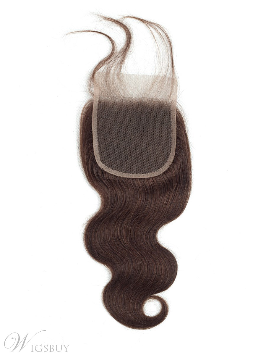 Wigsbuy Body Wave Lace Closure Pre-Colored #2 Free Part 10-24 Inches