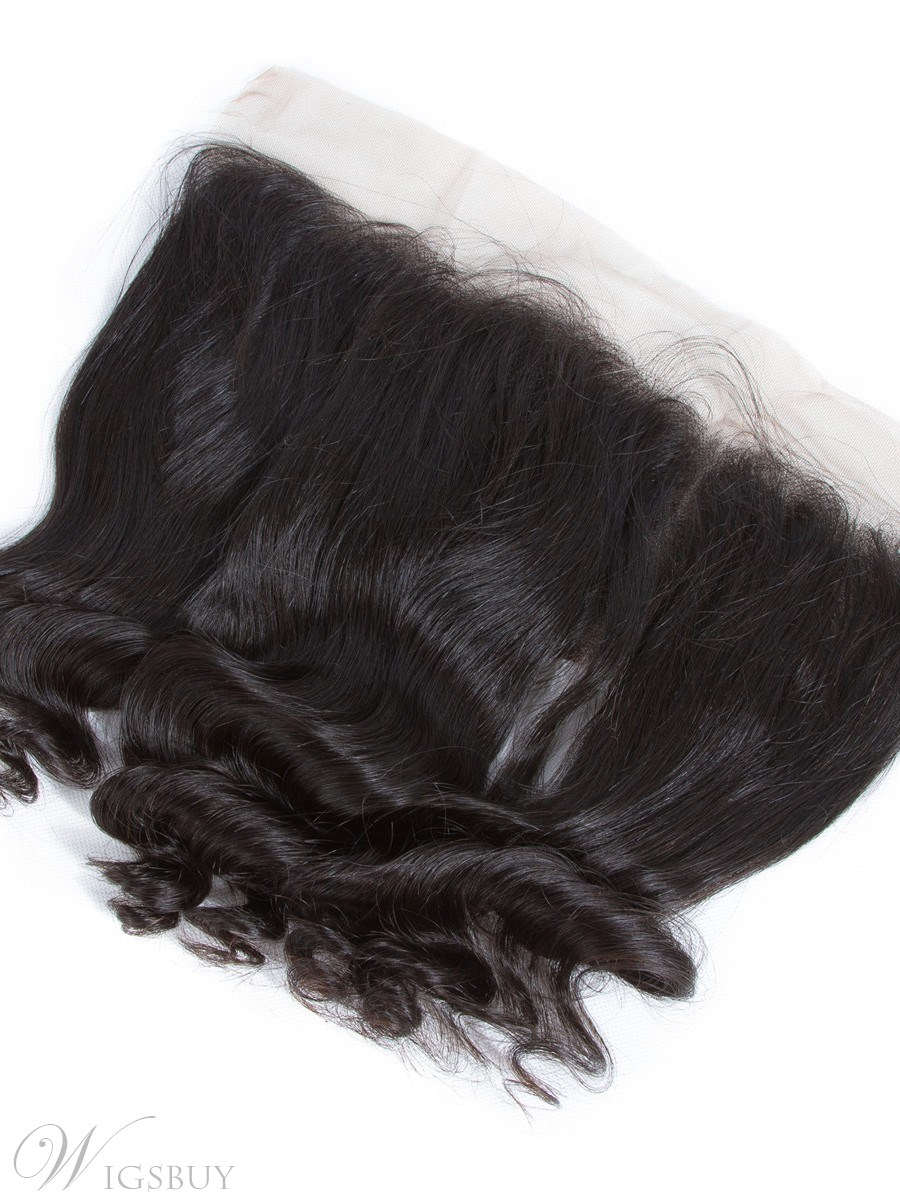 Wigsbuy Remy Human Hair Water Weave 13 x 4 Lace Frontal 8-18 Inches