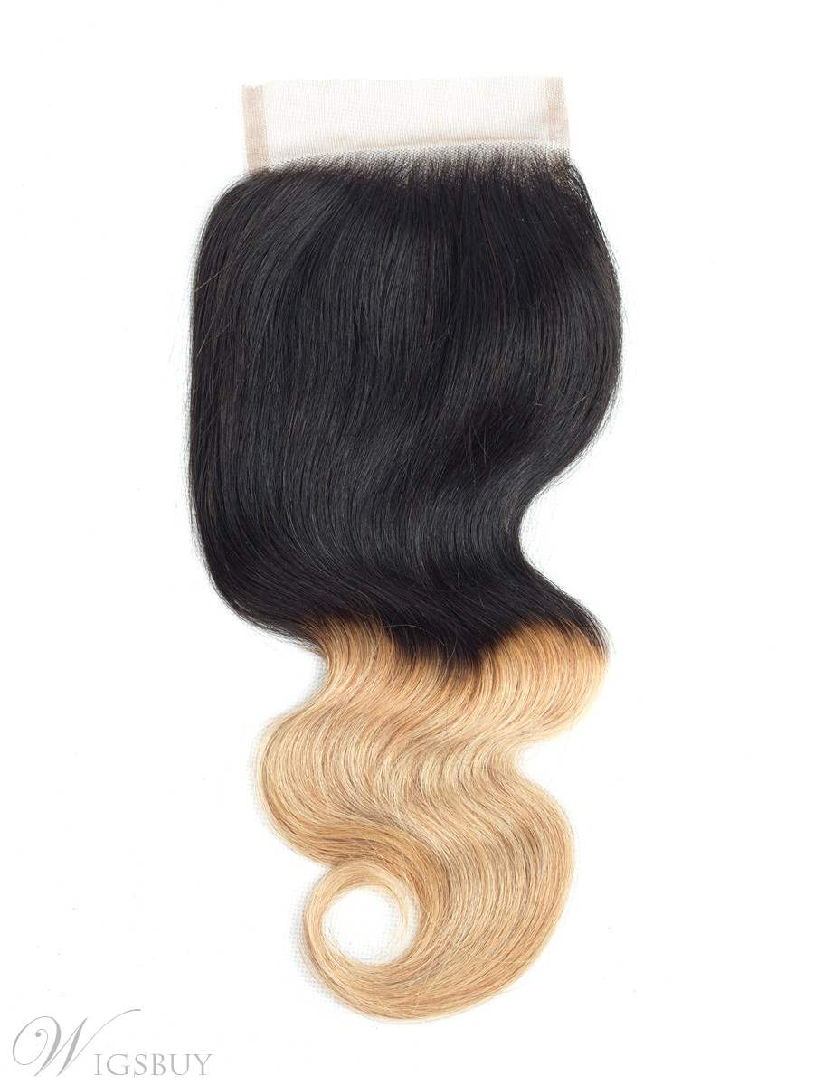 Wigsbuy Ombre Brazilian Body Wave 4x4 Lace Closure T1B/27