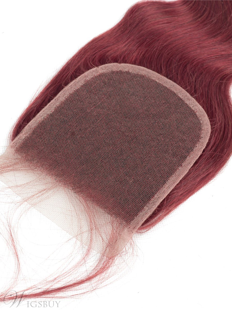 Wigsbuy Body Wave Human Hair Swiss 4x4 Lace Closure With Baby Hair