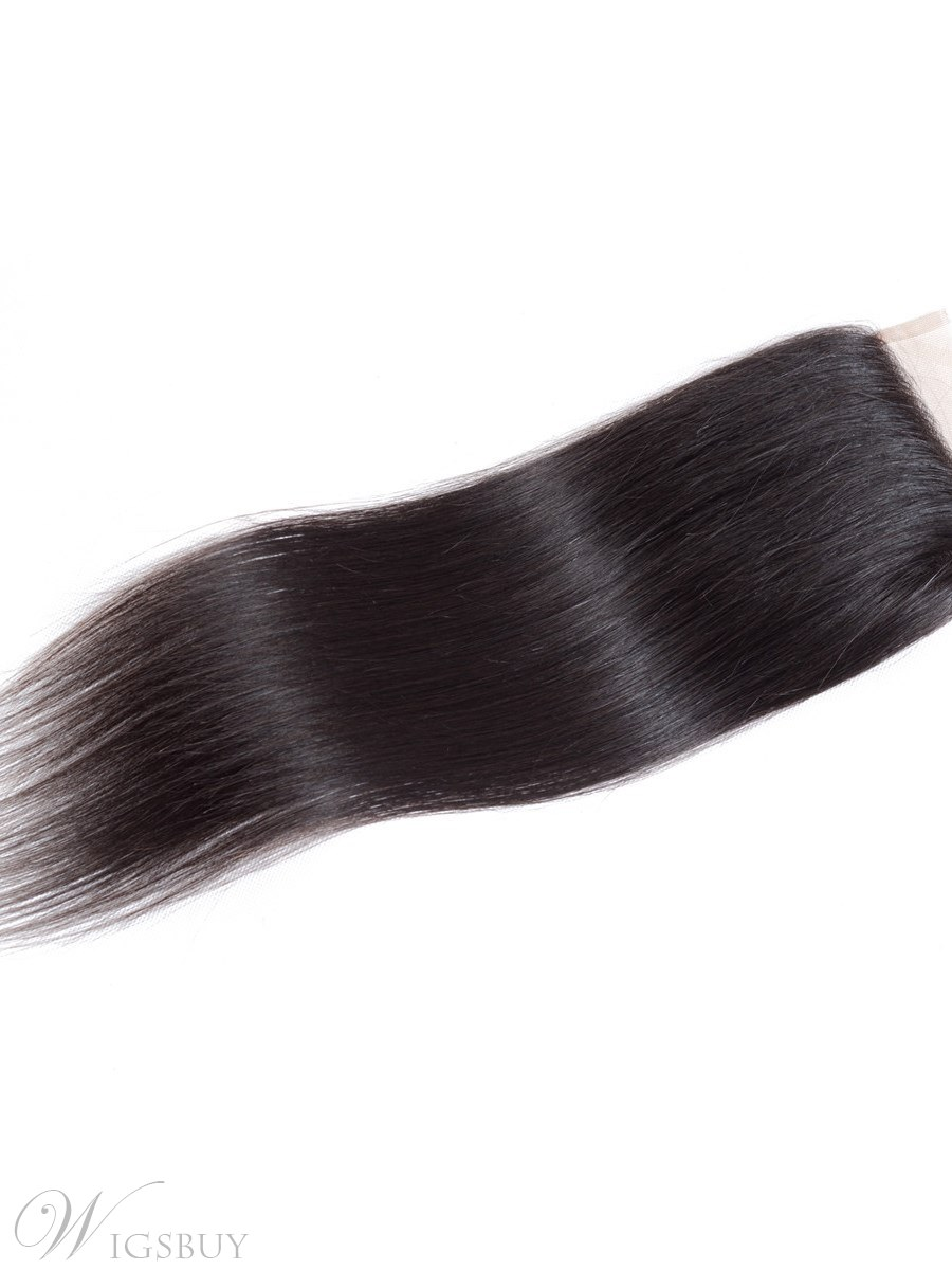 Wigsbuy Virgin Hair Closure Free Part Straight Lace Closure 4*4