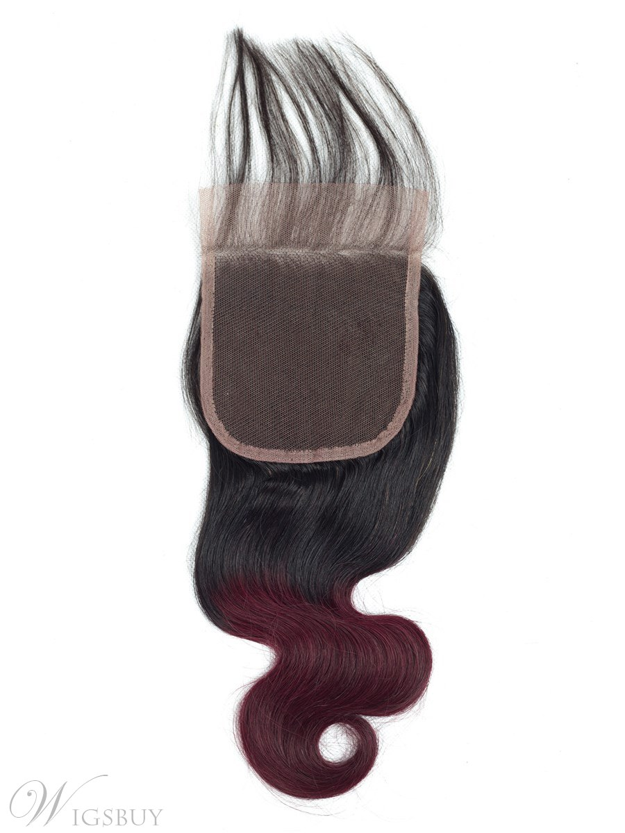 Wigsbuy Ombre Body Wave Lace Closure T1B/Burgundy