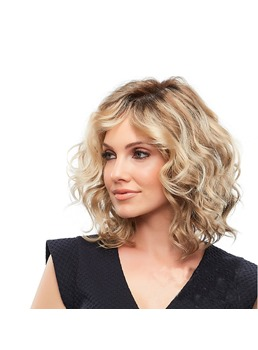 Mid-Length Bob Wavy Synthetic Hair Capless Wig