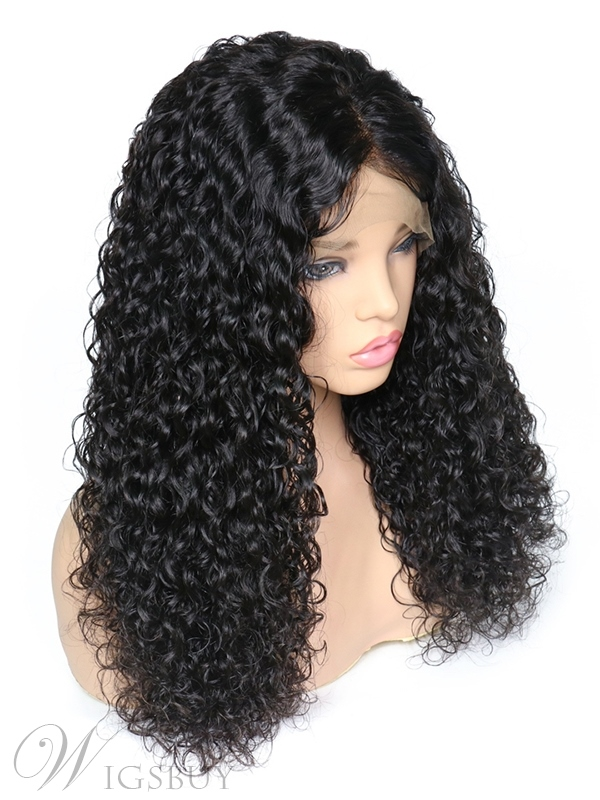 Long Curly Synthetic Hair Middle Part Lace Front Wig 22 Inches