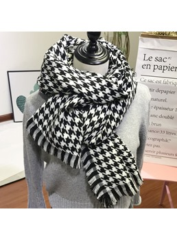 Grid Warm Winter Scarf