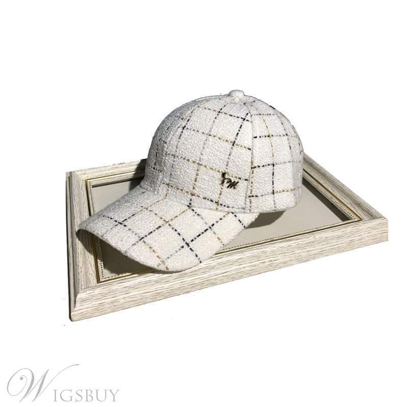 Fashion Grid Peaked Cap