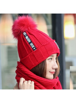 Plush Figure Winter Women Hat