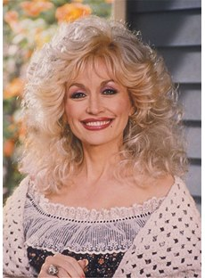Dolly Parton Out Layer Cut Synthetic Hair Women Wig