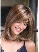 Mixed-Color One Side Part Straight Synthetic Hair Capless Capless 14 Inches