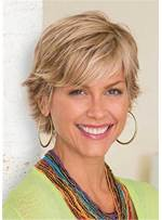 Layered Pixie Cuts Short Straight Classic Synthetic Hair Women Wigs Capless Cap