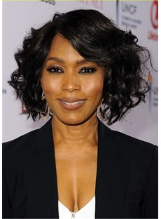 Angela Bassett Hairsyle Bob Cut Wavy Synthetic Hair Wig