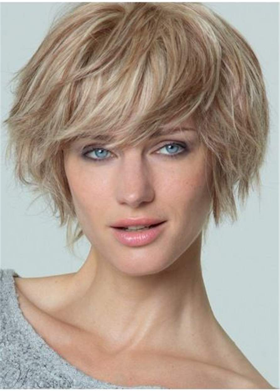 Layered Straight Synthetic Hair Capless Women Wig