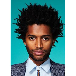 American Mens Hairstyle Short Afro Curly Human Hair Full Lace Wig