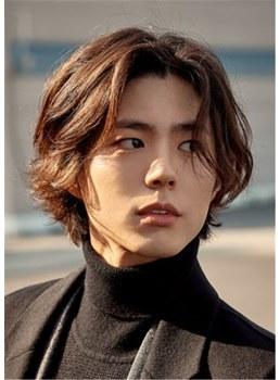 Korean Men's Hairstyle Wavy Human Hair Full Lace Cap