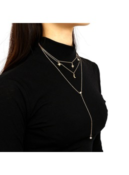 Moon Multilayer Necklace