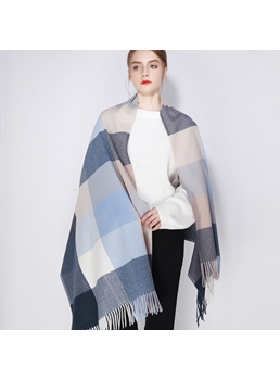 Grid Warm Winter Scarf For Women